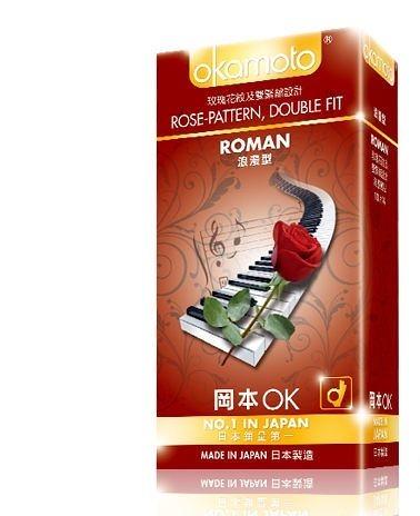 (特價 效期 2023年7月) 岡本 ROMAN浪漫型衛生套10入 岡本OK保險套