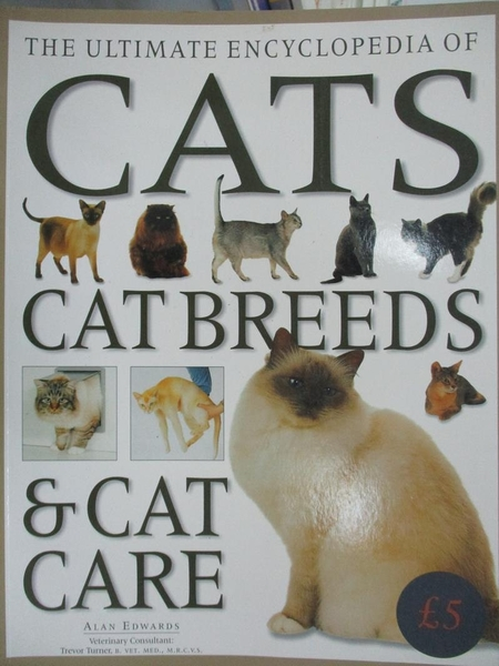 【書寶二手書T5/寵物_QNT】The Ultimate Encyclopedia of Cats, Cat Breed