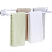 毛巾架免打孔衛生間浴巾桿吸盤的架子