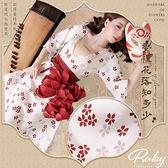 洋裝 中國風櫻花綁帶收腰長洋裝-Ruby s 露比午茶