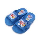 SUPER WINGS 超級飛俠樂迪套式拖鞋 藍 中大童鞋 鞋全家福