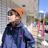 秋季新款學院風女裝百搭寬鬆顯瘦bf風連帽沖鋒衣棒球外套學生
