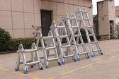伸縮梯 加厚多功能折疊梯工程梯人字梯家用梯子伸縮梯小巨人梯升降 DF全館免運