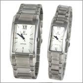 【萬年鐘錶】SIGMA日系 白時尚對錶 5812M-5812L-2