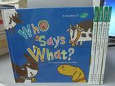 【書寶二手書T4/少年童書_WEM】Who says what_Go Away等_共5本合售_ABC Farm
