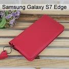 【Xmart】真皮側掀皮套 [桃] Samsung G935FD Galaxy S7 Edge