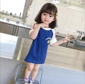 女童上衣 女童短袖T恤2020年新款韓版寶寶洋氣夏裝小童中長款夏季 交換禮物