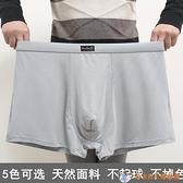 4条装 超大碼男士內褲200斤加肥加纖維平角褲莫代爾棉肥佬寬松褲頭【公主日記】