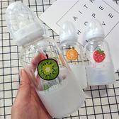 韓國可愛奶瓶水杯成人創意個性玻璃杯正韓女便攜杯子隨手杯