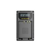 Nitecore FX1 雙槽LCD螢幕顯示USB充電器 For Fujifilm 富士 NP-W126 快充 相機座充 公司貨