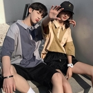 情侶裝 不一樣的情侶裝夏裝polo領2020新款翻領拼色小眾設計感寬鬆韓版潮