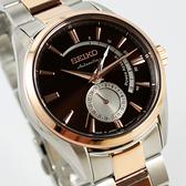 【萬年鐘錶】SEIKO PRESAGE精工4R57 機械 男錶 日期  玫瑰金x深黑咖啡42mm 4R57-00A0P(SSA308J1)