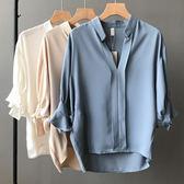 雪紡七分袖襯衫 韓系無人能比的輕柔感舒適襯衫 艾爾莎 【TAE7541】