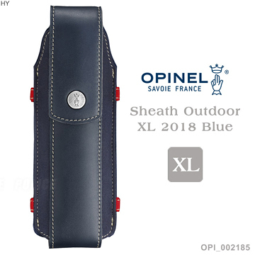 [好也戶外]OPINEL Sheath Outdoor XL 2018 Blue XL號戶外皮革套 NO.OPI002185