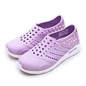 LIKA夢 LOTTO 排水透氣潮流洞洞休閒鞋 涼、拖鞋 LIFESTYLE 2 粉紫 0367 女