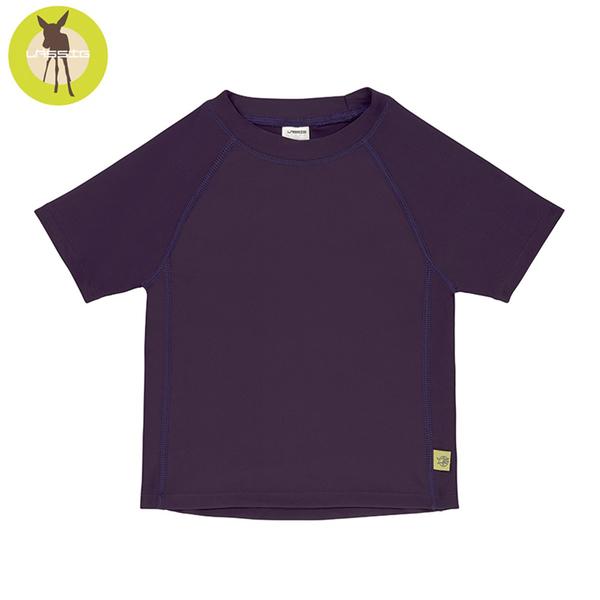 德國Lassig-嬰幼兒抗UV短袖泳裝上衣-李子果醬