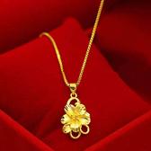 【獨愛精品】日韓時尚18年新品鍍金仿金女士款項鍊(鎖骨花) 飾品 手鍊 腳鍊 練繩