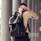 後背包 雙肩包男士潮流背包男韓版旅行包時尚休閒學生書包電腦包潮-三山一舍