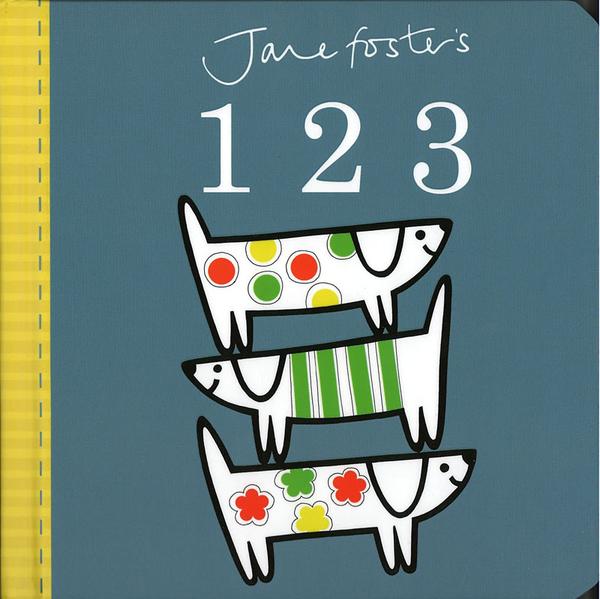 【高質感幼兒認知書】JANE FOSTER'S 123 /硬頁書 ※北歐風.圖騰設計大師作品 ※