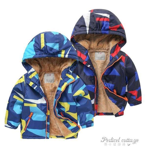 男童加厚羊羔毛連帽防風外套 2017新款冬裝童裝兒童棉衣外套U6850·蒂小屋