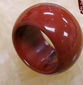 [協貿國際]天然紅玉髓戒指板指飾品(3入價)