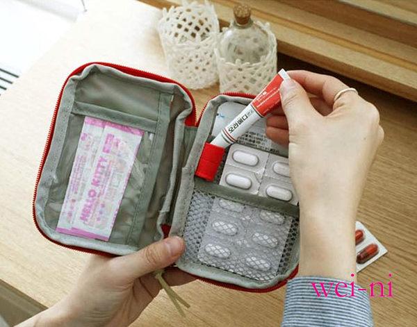 wei-ni 旅行隨身WeekEight急救包(小) 隨身藥物整理袋 旅行藥物收納袋 可當簡易3C收納包 隨身萬用包