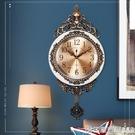 北極星歐式金屬盤搖擺靜音掛鐘客廳臥室個性創意時尚裝飾石英鐘表  印象家品