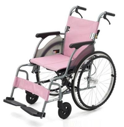 日本 MIKI鋁合金輪椅 綠/粉 (超輕9.8kg) CRT-1