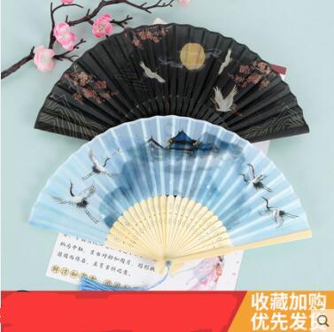 扇子折扇女中國風舞蹈扇夏季折疊扇古裝兒童小復古布古典古風禮物 怦然新品
