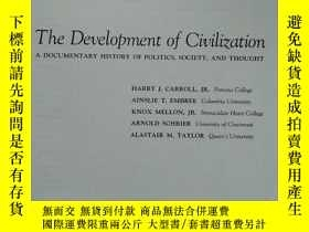 二手書博民逛書店THE罕見DEVELOPMENT OF CIVILIZATION