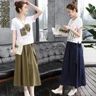 兩件式洋裝 2020春裝新款時髦顯瘦棉麻...