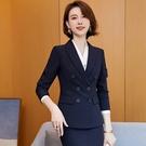 新穎三排扣修身長袖西裝外套[21S015-PF]美之札