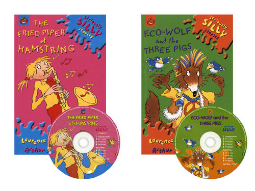 【麥克書店】Eco-Wolf and the Three Pigs & The Fried Piper of Hamstring/2書+2CD