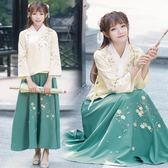 改良漢服女古裝長袖襦裙兩件套