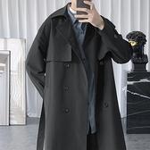 大衣外套男寬鬆過膝大衣雙排扣韓版外套秋冬季