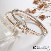 [鈦鋼]屬於兩人的輕語簡約鋯石手環【KTL391】璀璨之星☆