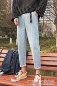 夏季韓版牛仔褲男士休閒長褲潮流修身學生直筒窄管褲 概念3C旗艦店
