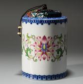 【雙11】容山堂 陶瓷茶葉罐大號彩繪琺瑯儲物罐青花瓷普洱茶密封盒醒茶罐折300