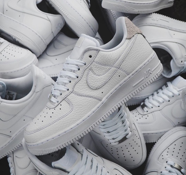IMPACT Nike Air Force 1 07 Craft White 白 灰 荔枝皮 麂皮 CN2873-101