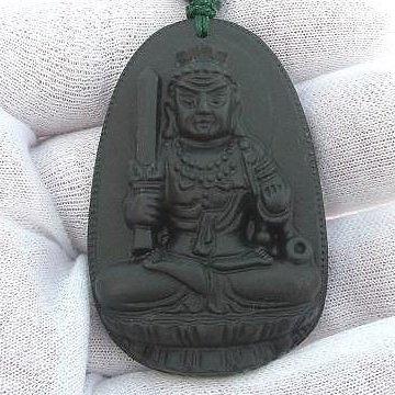 【歡喜心珠寶】【不動明王法像墜子】天然原礦天鐵雕「附保証書」生肖雞年生之人守護神