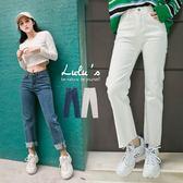LULUS-C褲管不修邊直筒牛仔長褲S-L-2色  現+預【04011300】