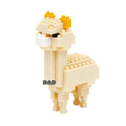 《 Nano Block 迷你積木 》【 可愛動物系列 】NBC - 079 米色羊駝 ╭★ JOYBUS玩具百貨