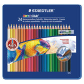 施德樓 MS14410 M24 快樂學園 水性色鉛筆24色入/盒