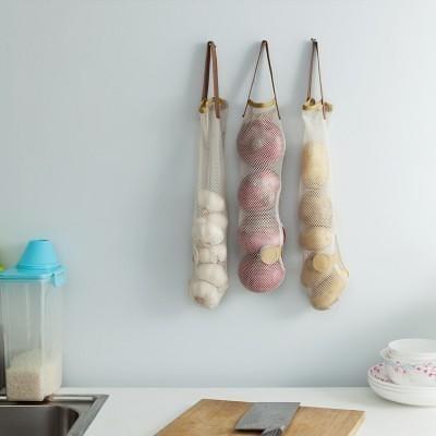 透氣大蒜洋蔥掛袋 NO135【LA045】蒜頭袋 洋蔥袋 蔬果收納網袋《八八八e網購