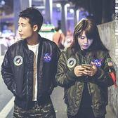 空軍外套-徽章加厚短款棒球服男女MA1夾克(單件)2色72av17【巴黎精品】