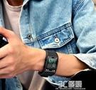 手錶男高中學生智能運動潮流多功能防水機械方型抖音黑科技電子錶 3C優購