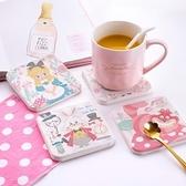 【收納王妃】愛麗絲夢遊仙境杯墊(2入一組)睡鼠茶會