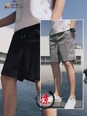短褲男夏季薄款休閒運動速干褲子寬鬆韓版潮流ins潮牌大碼5五分褲