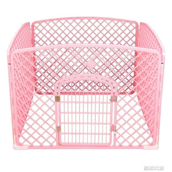 寵物籠 狗狗圍欄寵物柵欄室內狗籠子泰迪柯基中型小型犬隔離門防護欄狗窩 8號店WJ