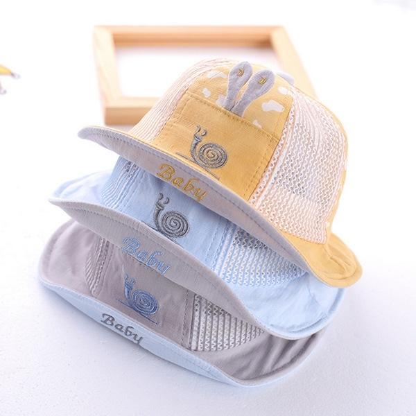 漁夫帽 蝸牛造型 遮陽帽 寶寶帽 童帽 防曬 嬰兒帽 DL1501 好娃娃